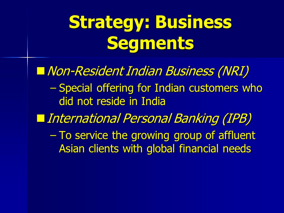 Strategy: Business Segments