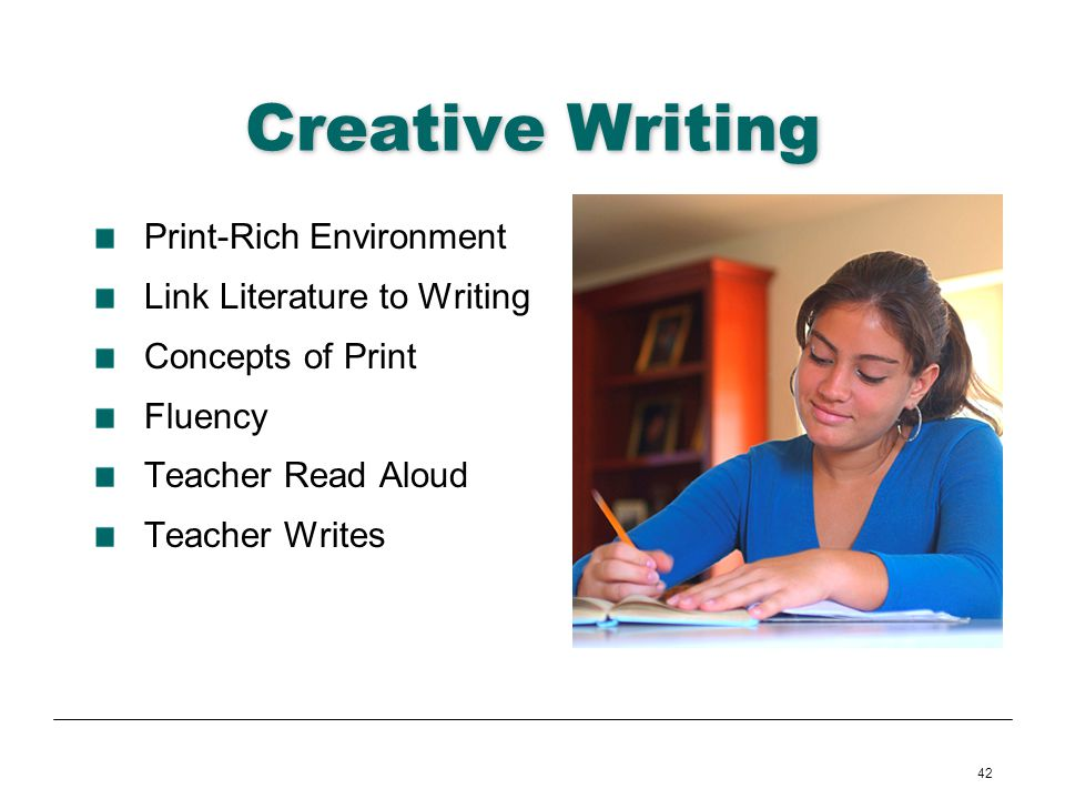 Creative Writing Print-Rich Environment Link Literature to Writing