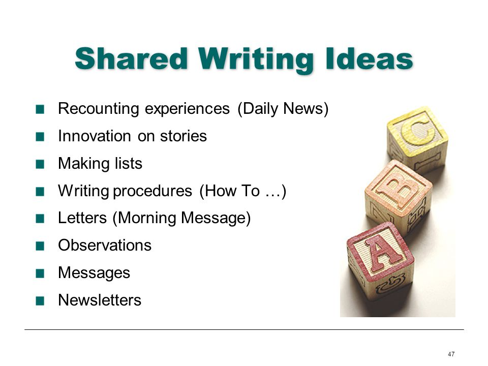 Shared Writing Ideas Recounting experiences (Daily News)