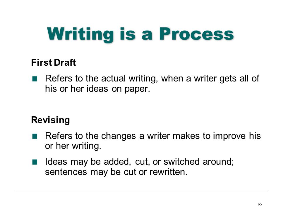 Writing is a Process First Draft