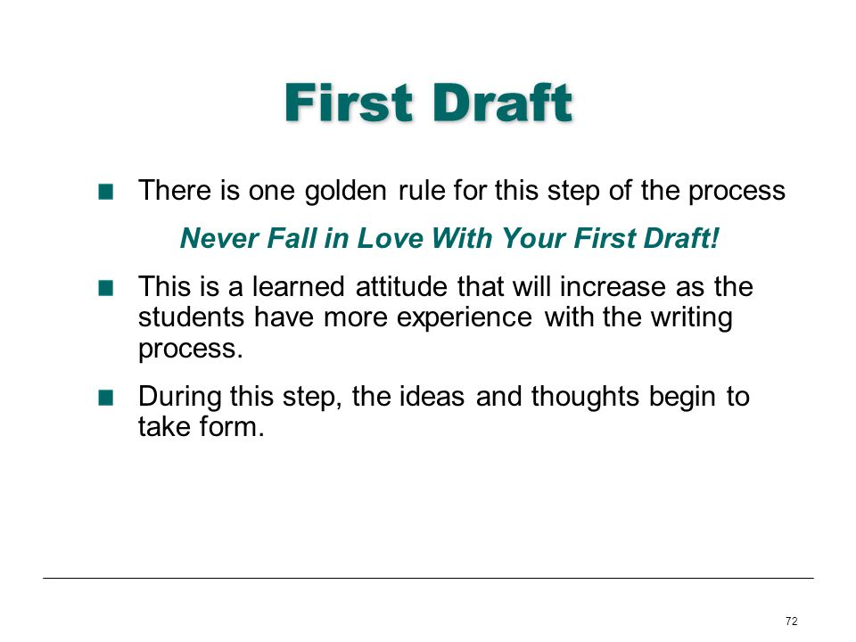 Never Fall in Love With Your First Draft!