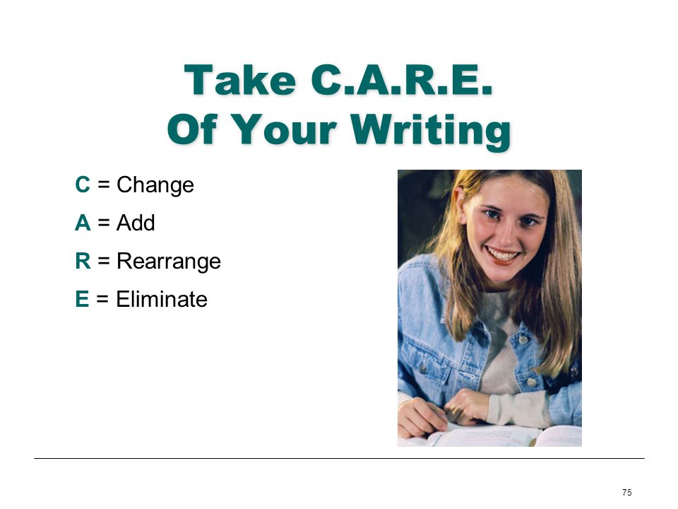 Take C.A.R.E. Of Your Writing
