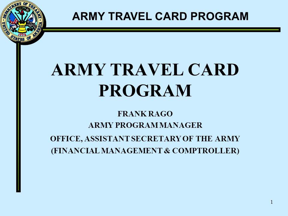 ARMY TRAVEL CARD PROGRAM