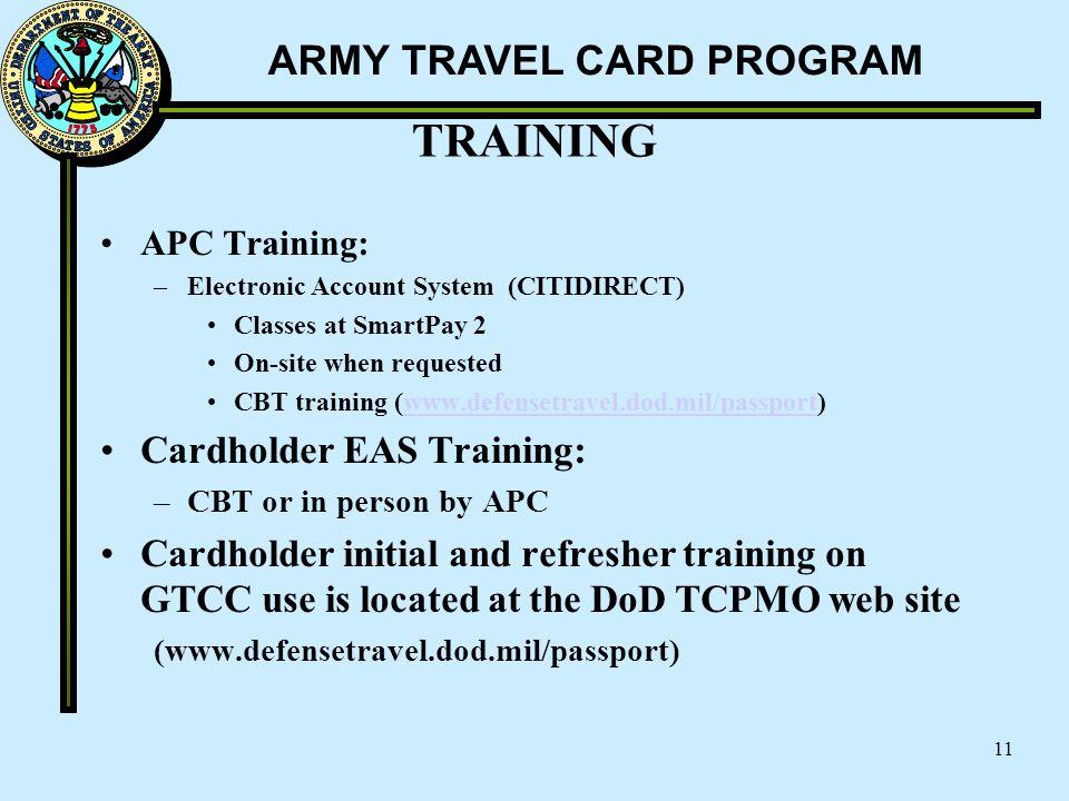TRAINING Cardholder EAS Training: