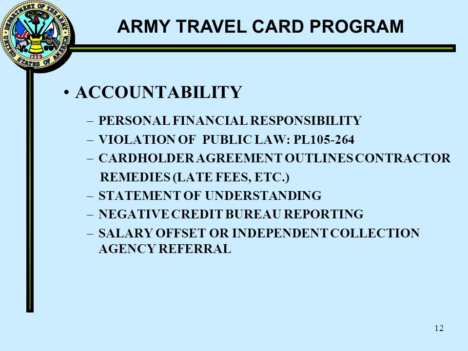 ACCOUNTABILITY PERSONAL FINANCIAL RESPONSIBILITY