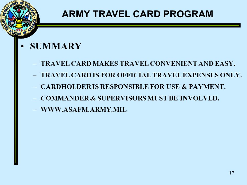 SUMMARY TRAVEL CARD MAKES TRAVEL CONVENIENT AND EASY.