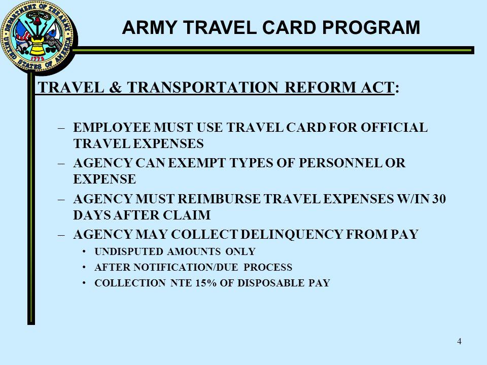 TRAVEL & TRANSPORTATION REFORM ACT: