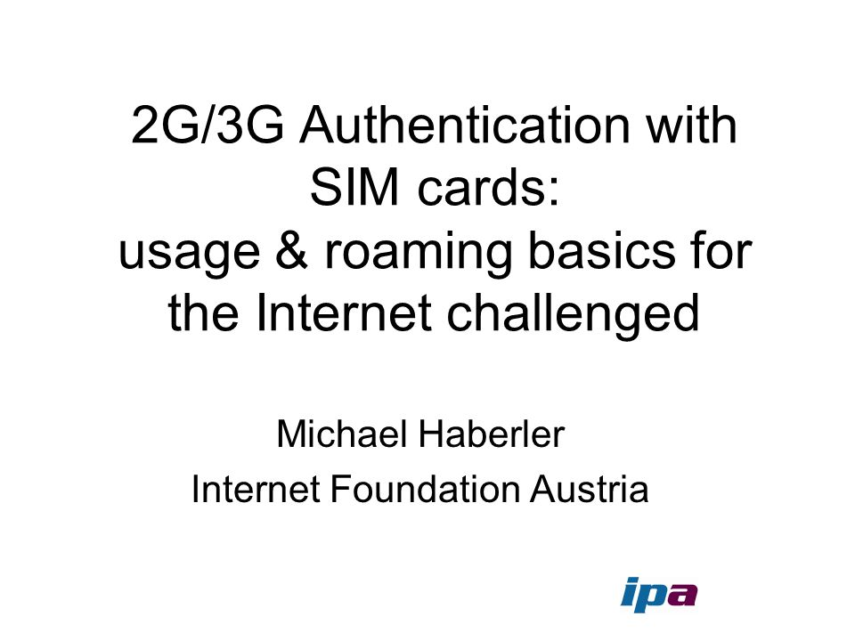 Michael Haberler Internet Foundation Austria