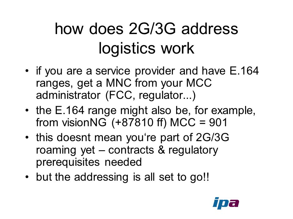 how does 2G/3G address logistics work