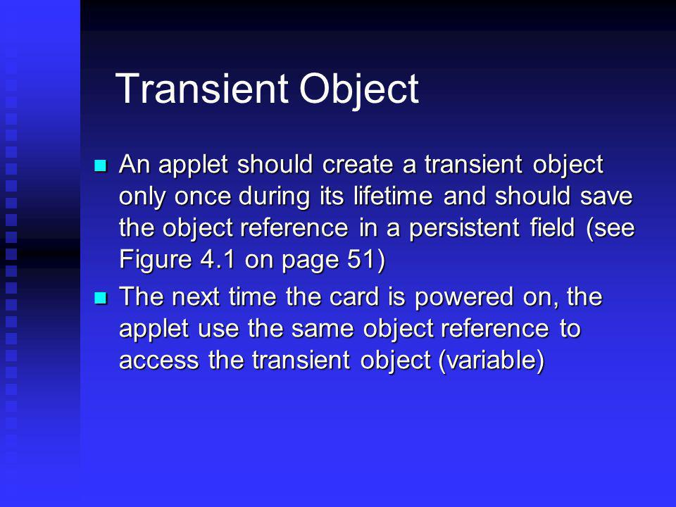 Transient Object
