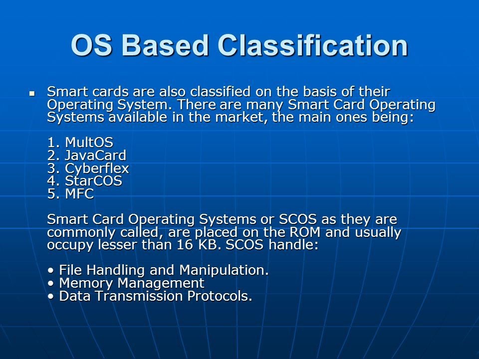 OS Based Classification