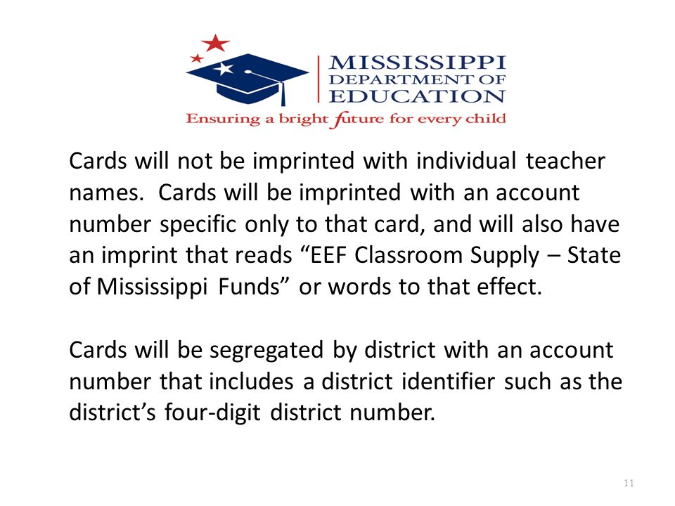 Cards will not be imprinted with individual teacher names