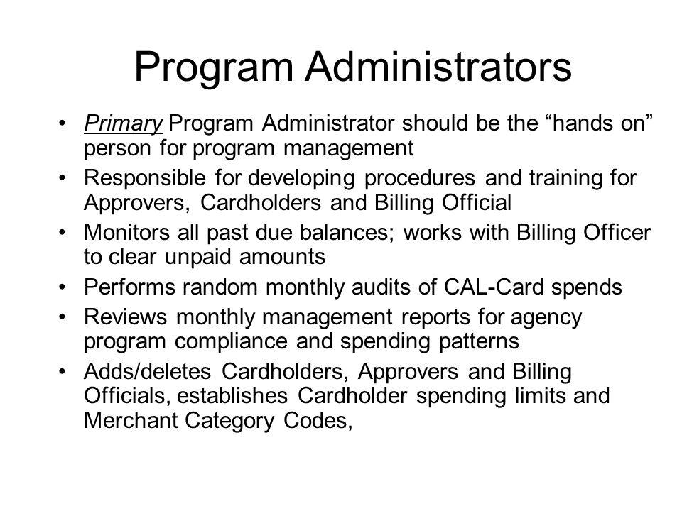 Program Administrators