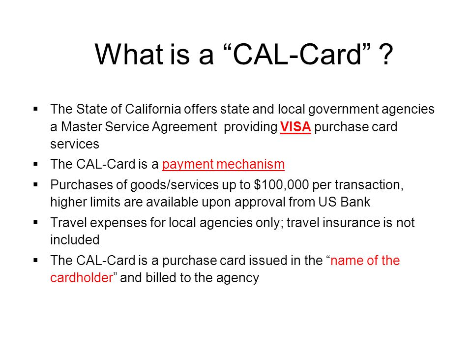 What is a CAL-Card