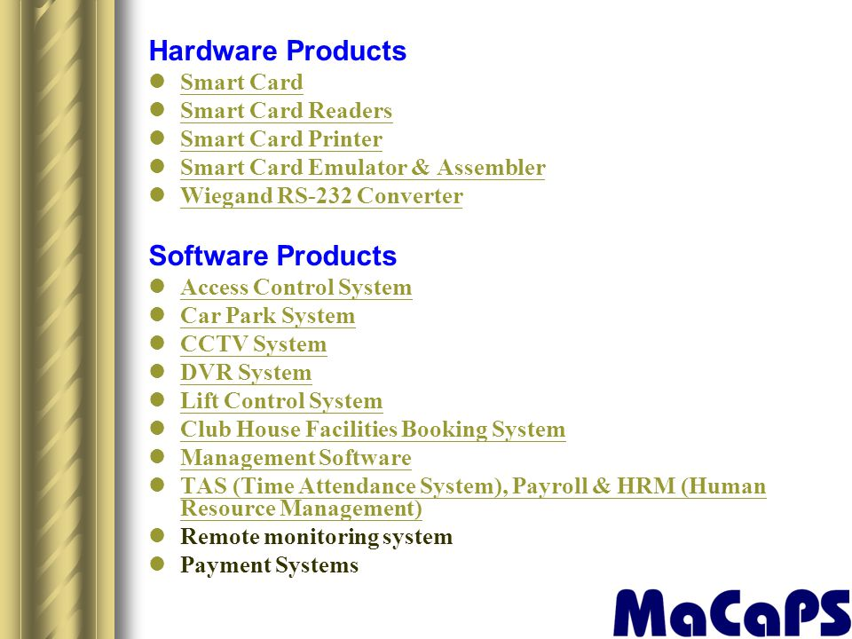 Hardware Products Software Products Smart Card Smart Card Readers