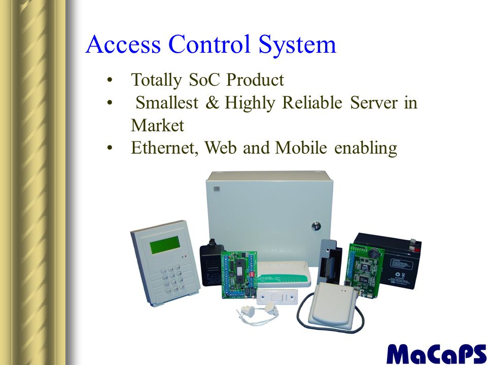 Access Control System Totally SoC Product