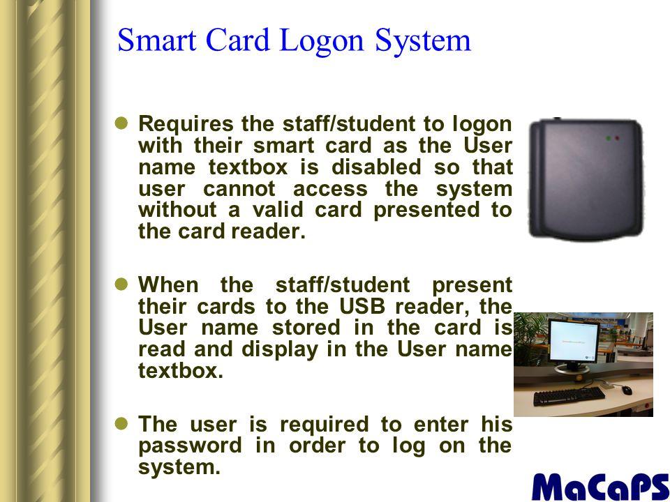 Smart Card Logon System