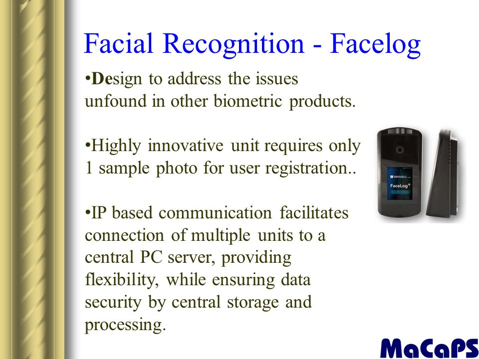 Facial Recognition - Facelog