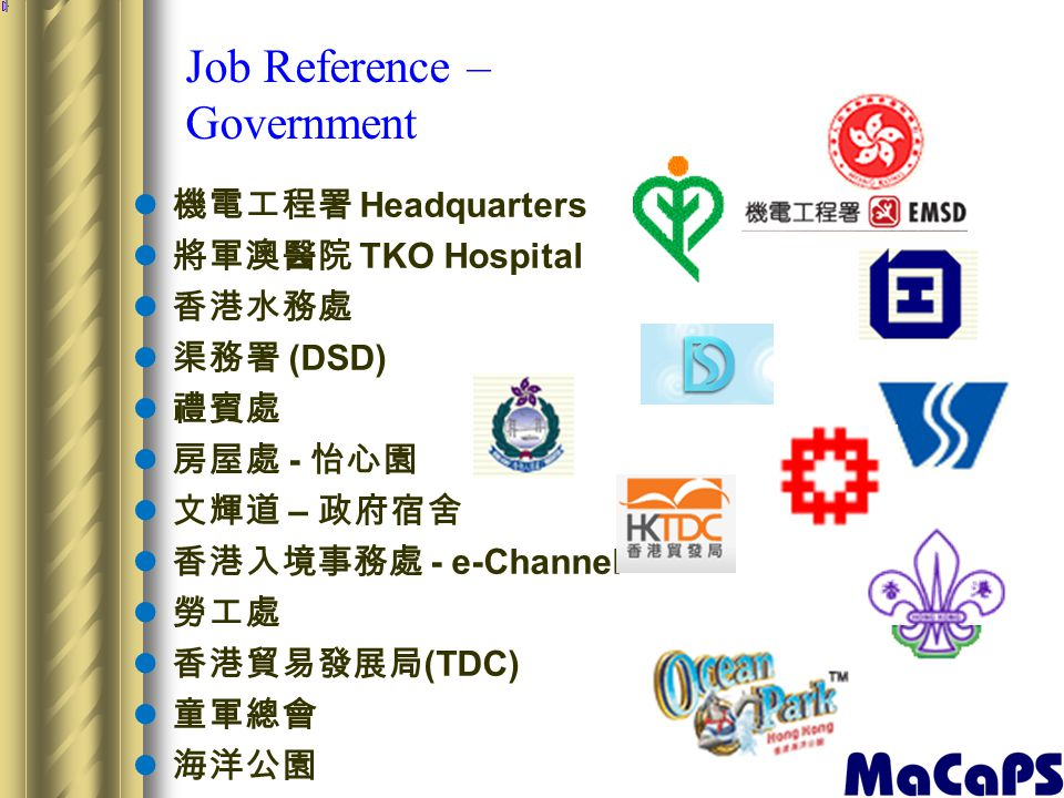 Job Reference – Government