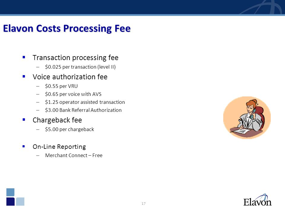 Elavon Costs Processing Fee