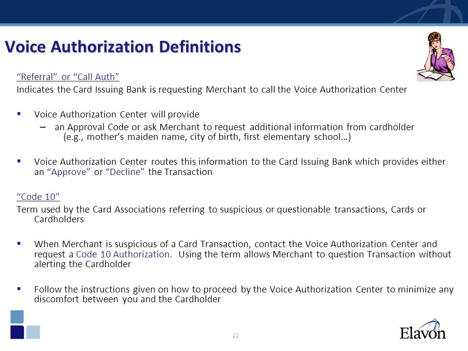 Voice Authorization Definitions