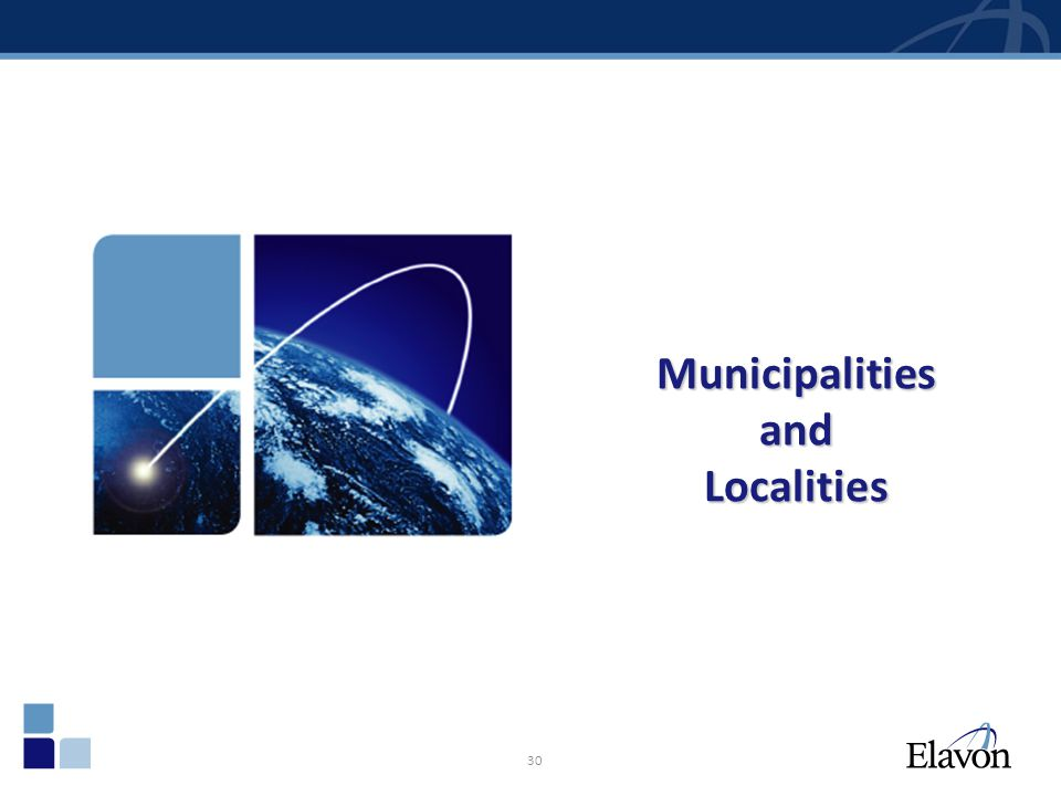 Municipalities and Localities