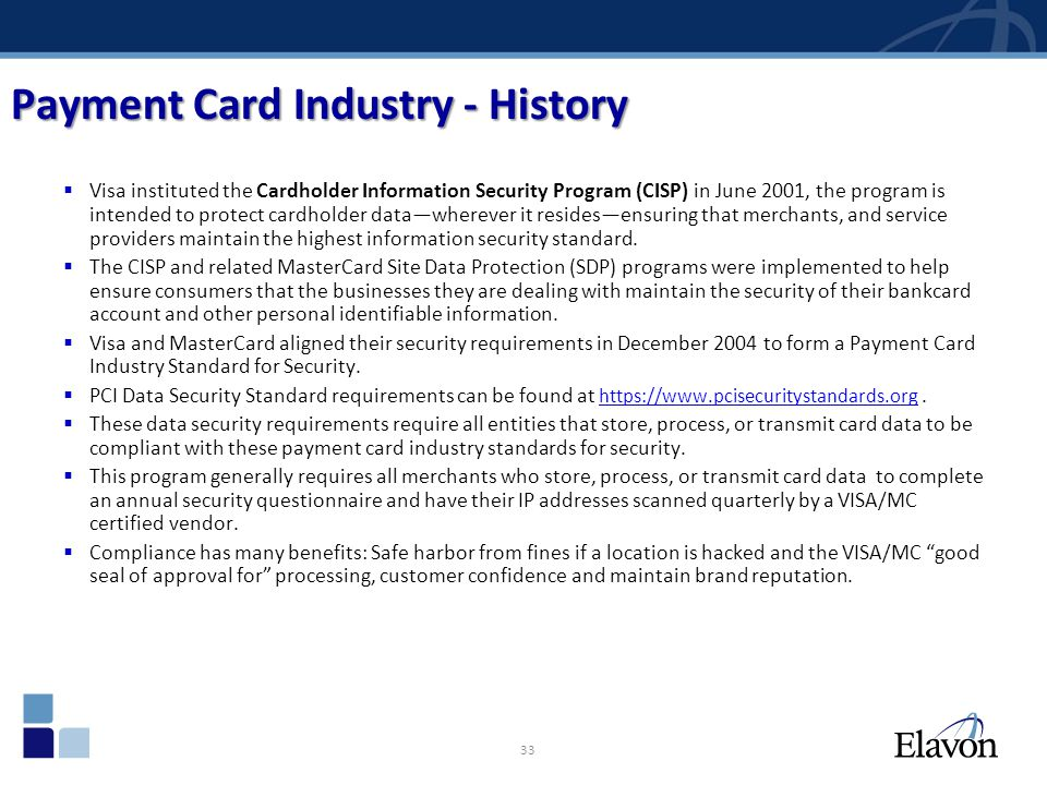 Payment Card Industry - History