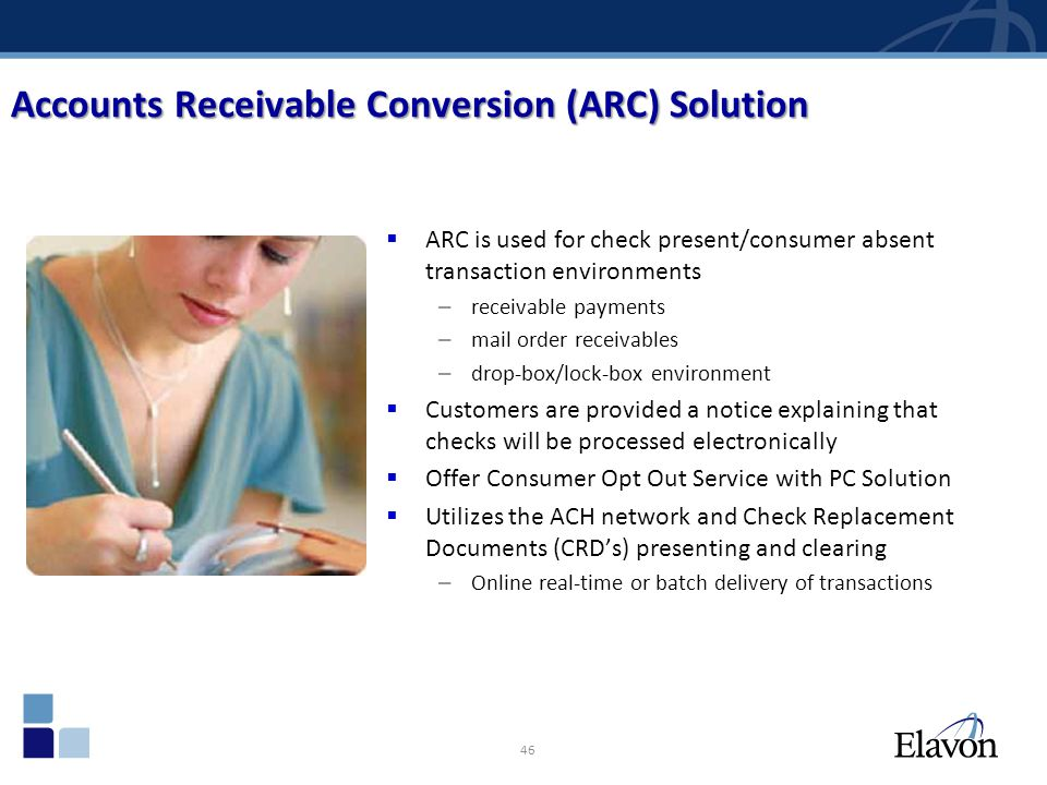 Accounts Receivable Conversion (ARC) Solution