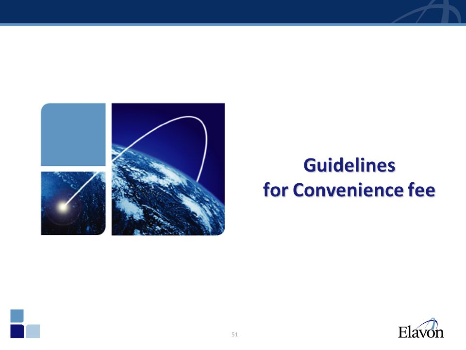 Guidelines for Convenience fee