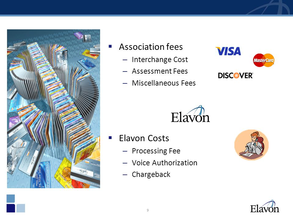 Association fees Elavon Costs Interchange Cost Assessment Fees