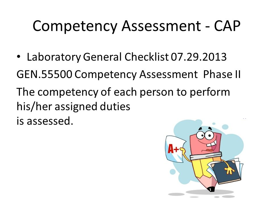 Competency Assessment - CAP