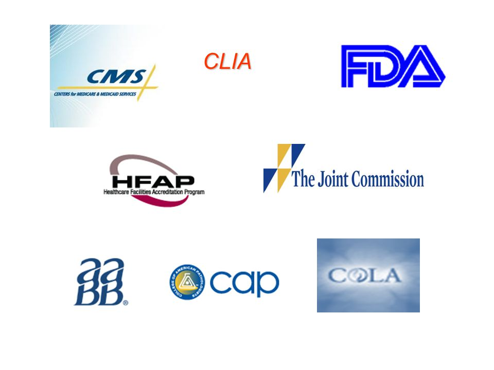 CLIA Here are the organizations that have assisted us with their top deficiencies, nonconformances. The top line are the regulators.