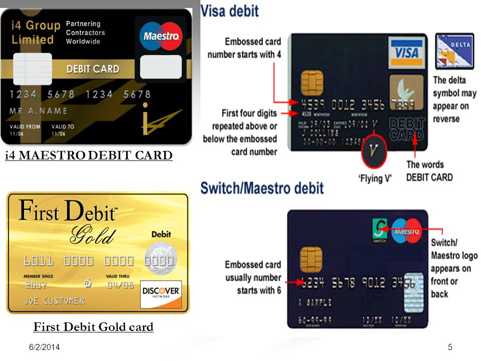 i4 MAESTRO DEBIT CARD First Debit Gold card 3/31/2017