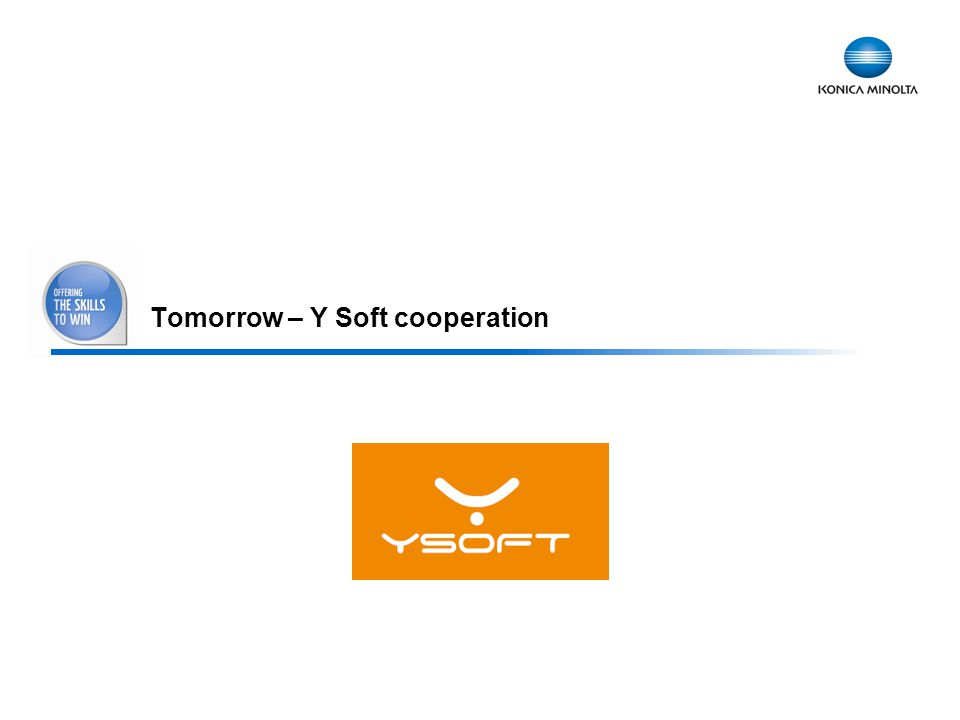 Tomorrow – Y Soft cooperation