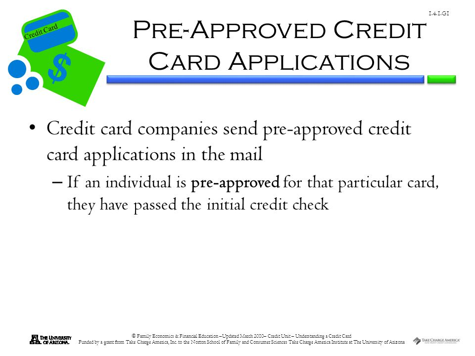 Pre-Approved Credit Card Applications