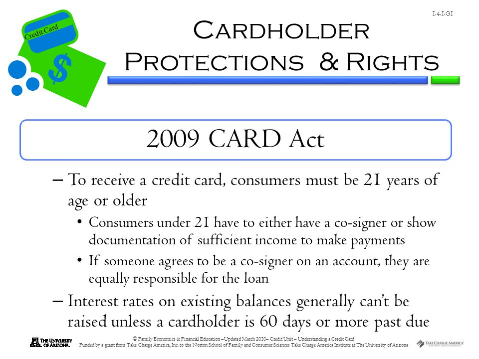 Cardholder Protections & Rights