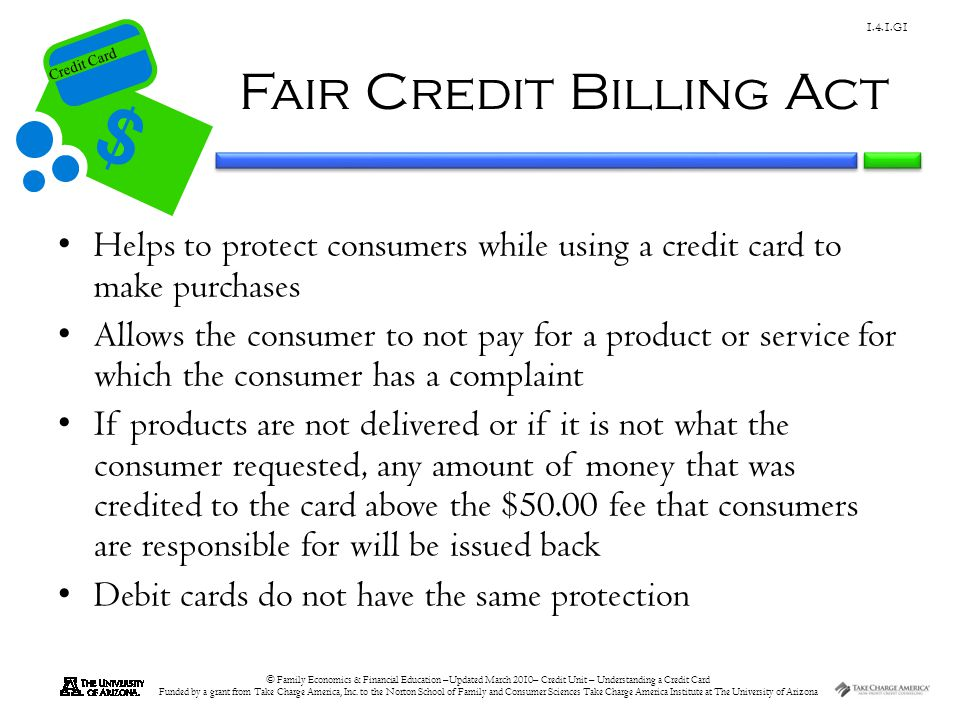 Fair Credit Billing Act