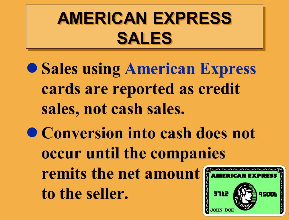 AMERICAN EXPRESS SALES