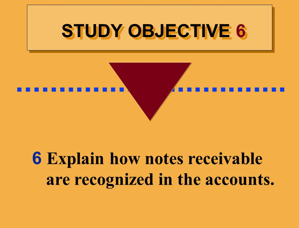 6 Explain how notes receivable are recognized in the accounts.