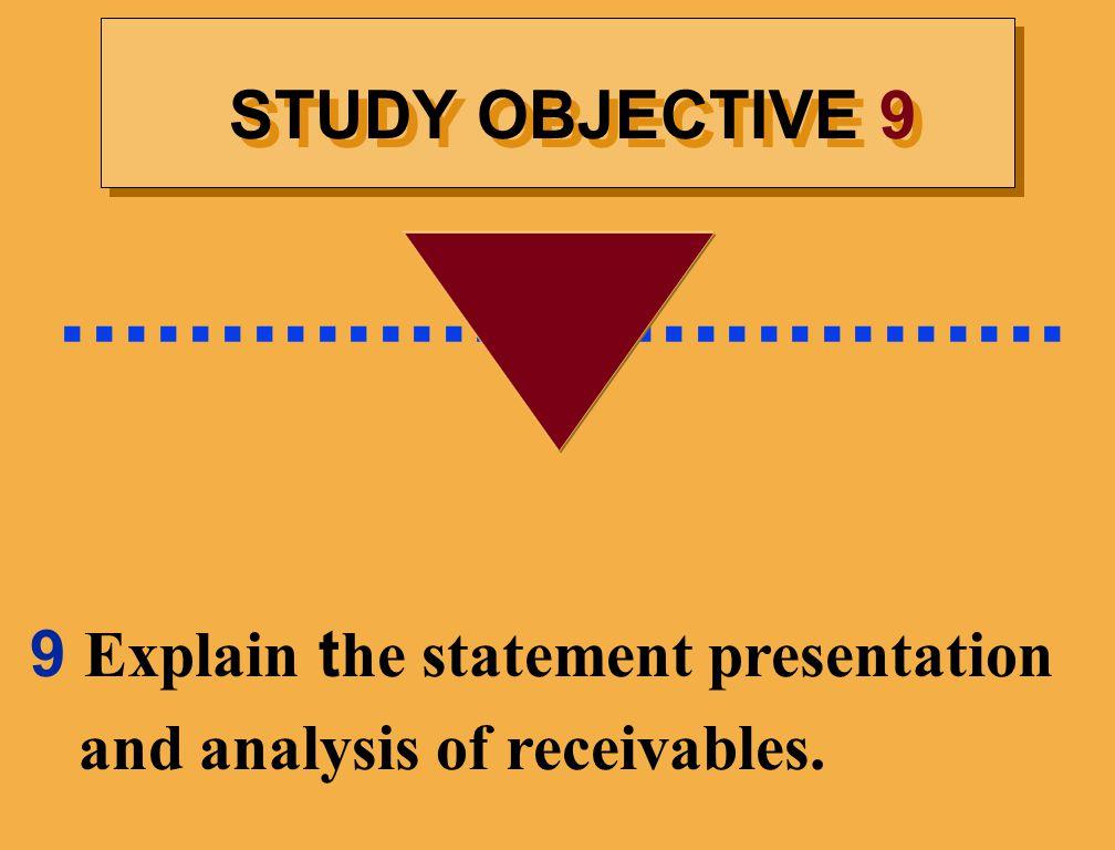 ................................ STUDY OBJECTIVE 9.