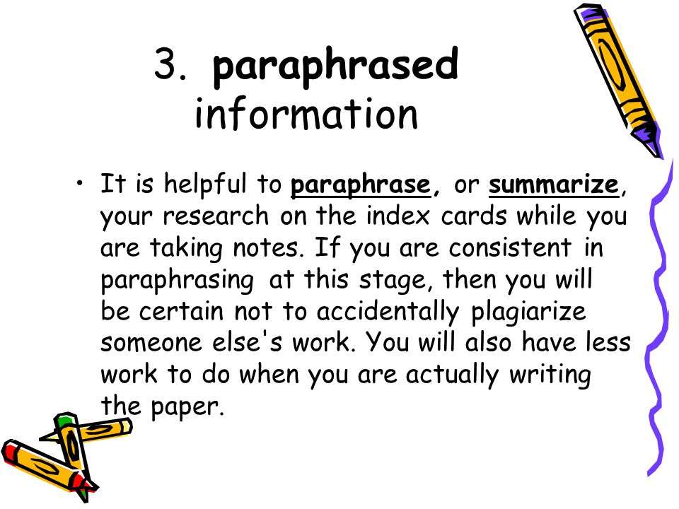How To Not Plagiarize A Research Paper
