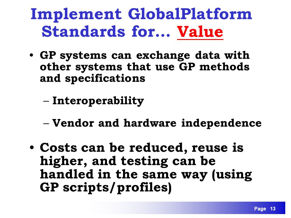 Implement GlobalPlatform Standards for…