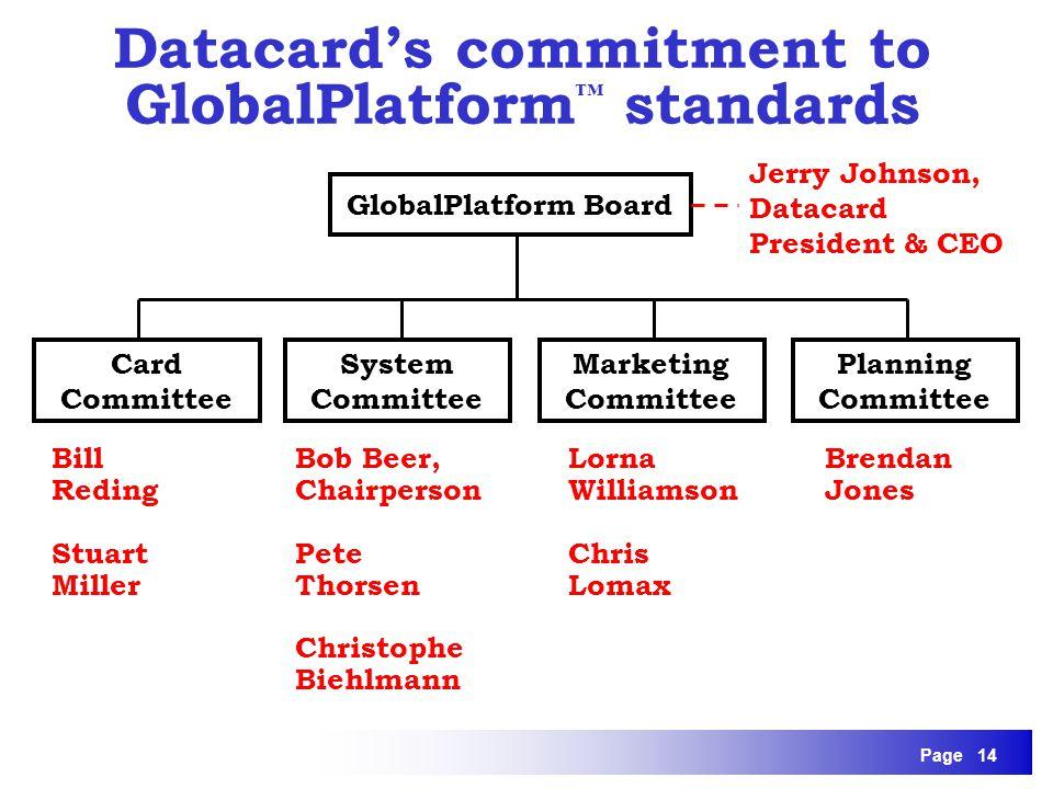 Datacard's commitment to GlobalPlatform™ standards