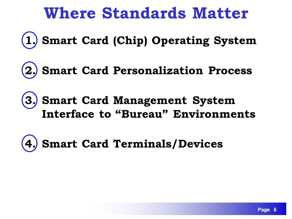 Where Standards Matter