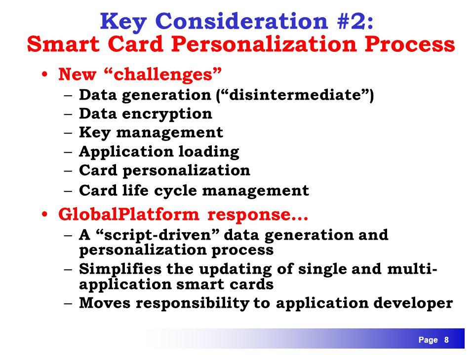 Key Consideration #2: Smart Card Personalization Process