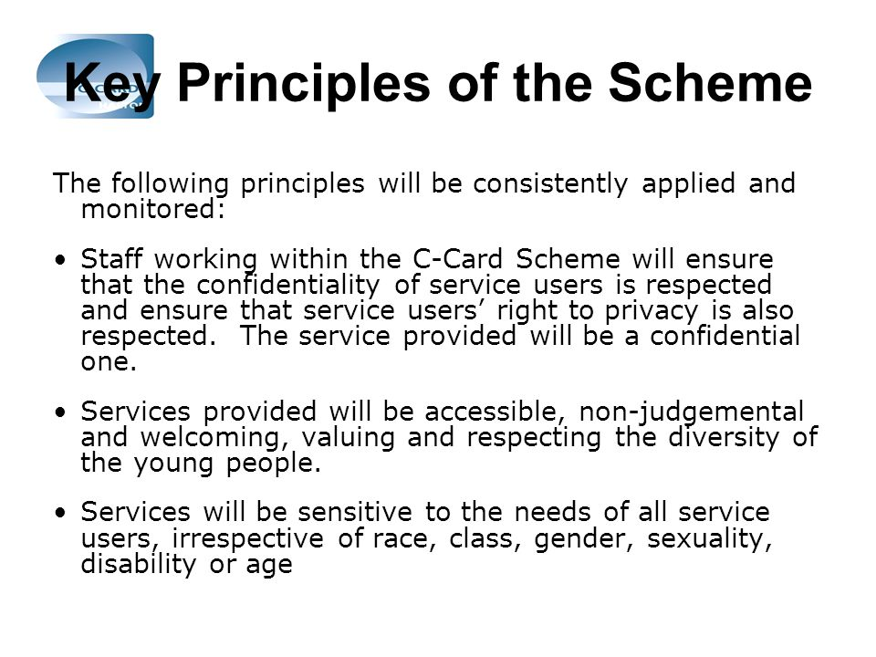 Key Principles of the Scheme