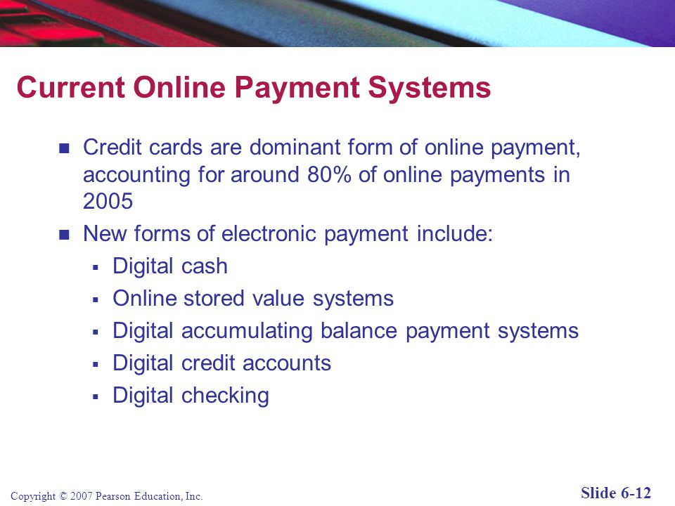 Current Online Payment Systems