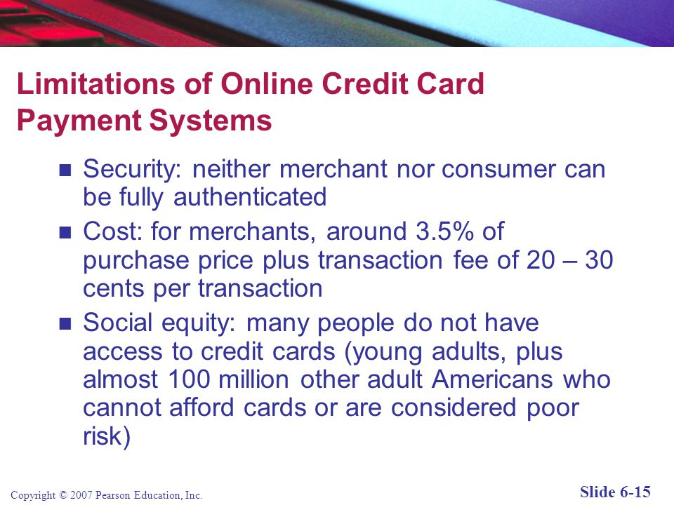 Limitations of Online Credit Card Payment Systems