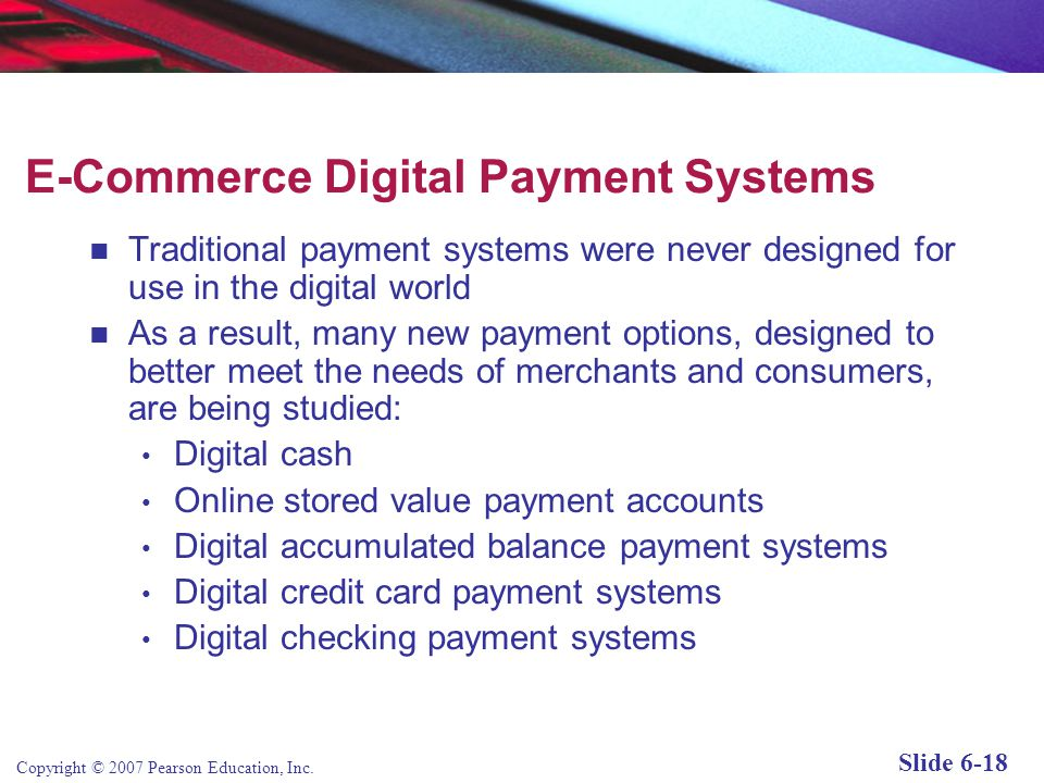 E-Commerce Digital Payment Systems
