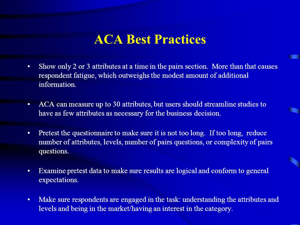 ACA Best Practices